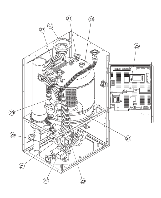 Eternal water heater resources turn off the power remove the front of the heater remove the screw that holds the motherboard 25 swing that out of the way and look above the burner ccuart Images