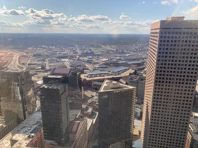 Looking west from downtown Minneapolis