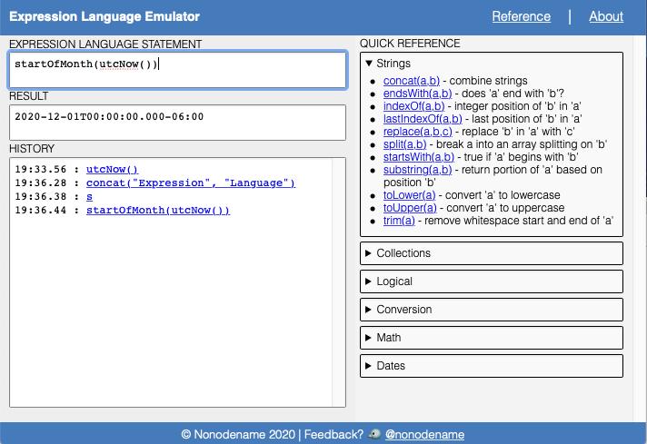Screenshot of the emulator