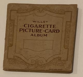 Not quite a book, but an old cigarette card album